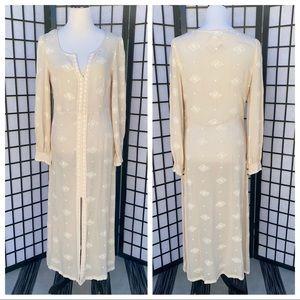 Free People Long Sleeve Boho Maxi Dress
